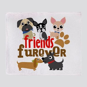 Dogs Friends Furever Throw Blanket