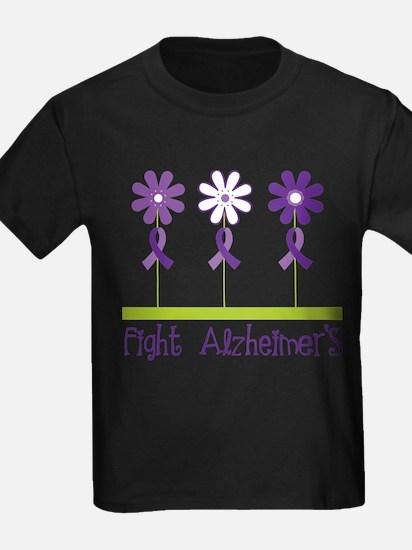 fight alzheimers purple daisies T-Shirt