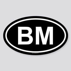 BM Oval Sticker