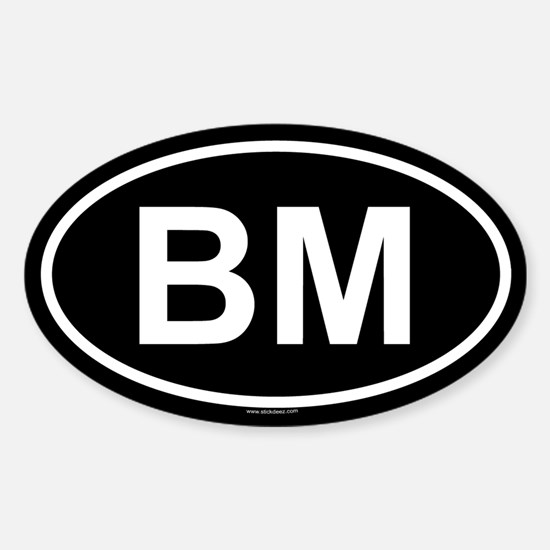 BM Oval Decal