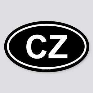 CZ Oval Sticker