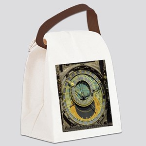 Prague Astronomical Clock Tower i Canvas Lunch Bag