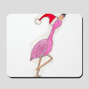 Christmas Flamingo Mousepad