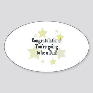 Congratulations! You're going Oval Sticker