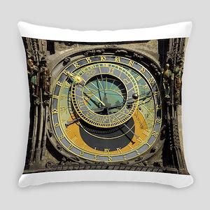 Prague Astronomical Clock Tower in Everyday Pillow