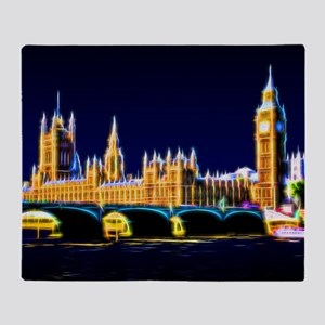 Houses of Parliament with Big Ben, L Throw Blanket