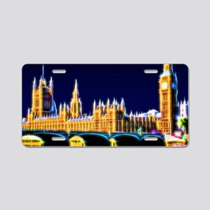 Houses of Parliament with B Aluminum License Plate