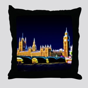 Houses of Parliament with Big Ben, Lo Throw Pillow