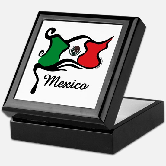 Funky Mexican Flag Keepsake Box