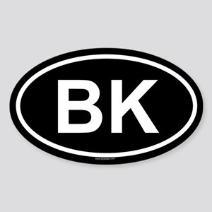 BK Oval Sticker