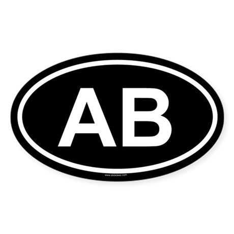 AB Oval Sticker