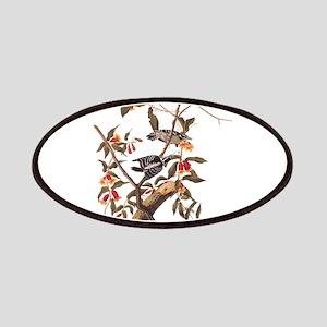 Downy Woodpecker Vintage Audubon Art Patch