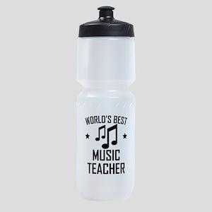 Worlds Best Music Teacher Sports Bottle
