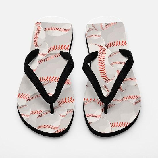 Baseball pile Flip Flops
