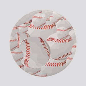 Baseball pile Round Ornament
