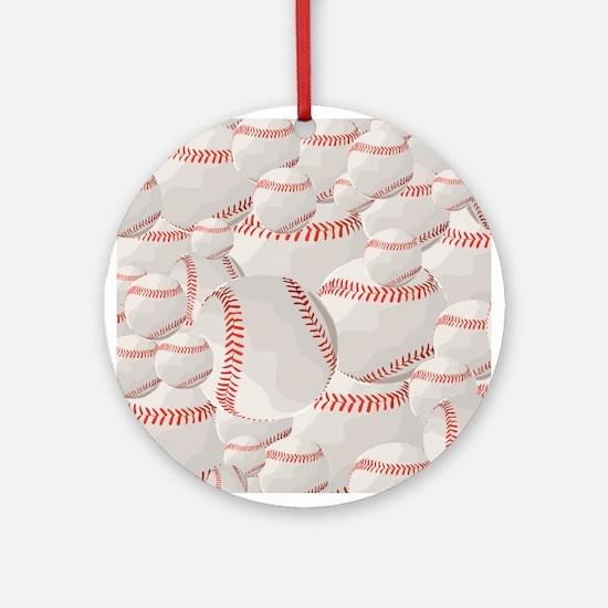 Baseball pile Round Ornament