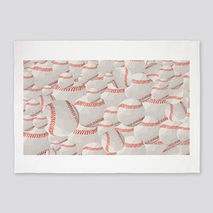 Baseball pile 5'x7'Area Rug