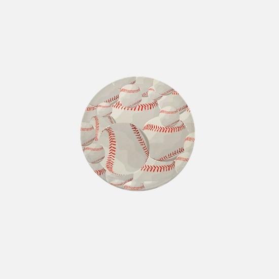 Baseball pile Mini Button