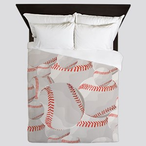 Baseball pile Queen Duvet