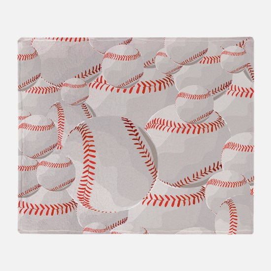 Baseball pile Throw Blanket
