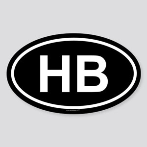 HB Oval Sticker