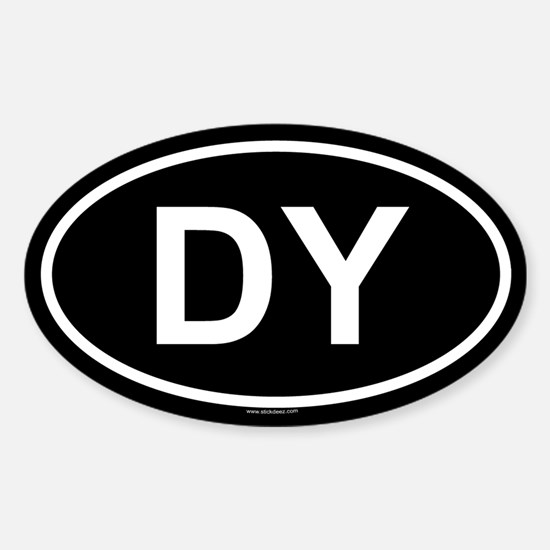 DY Oval Decal