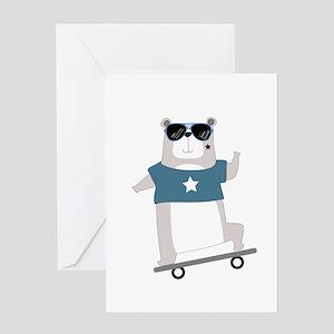 Skateboarding Bear Greeting Card