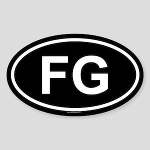 FG Oval Sticker