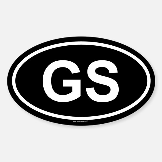 GS Oval Decal