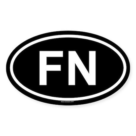 FN Oval Sticker