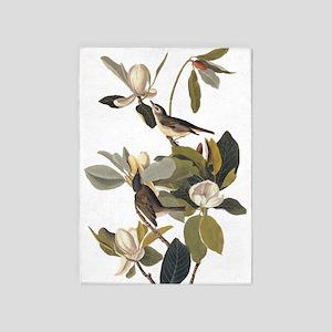 Warbling Flycatcher Bird Vintage Audubon Art 5'x7'