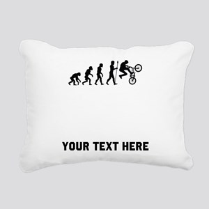 BMX Biker Evolution Rectangular Canvas Pillow