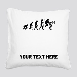 BMX Biker Evolution Square Canvas Pillow