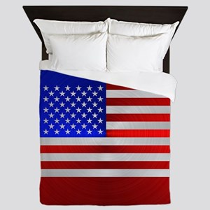 USA FLAG METAL 2 Queen Duvet