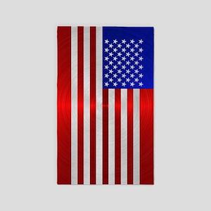 USA FLAG METAL 2 Area Rug