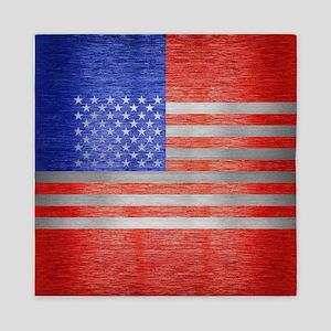 USA FLAG METAL 1 Queen Duvet
