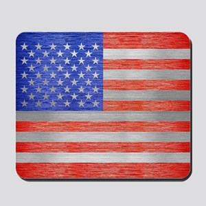 USA FLAG METAL 1 Mousepad
