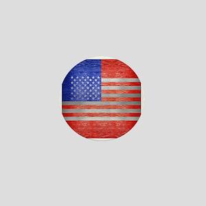 USA FLAG METAL 1 Mini Button