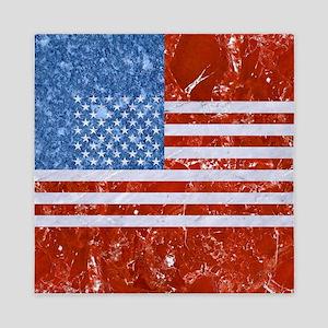 USA FLAG MARBLE Queen Duvet