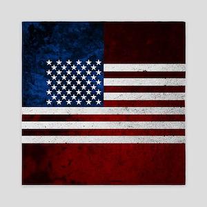 USA FLAG GRUNGE Queen Duvet