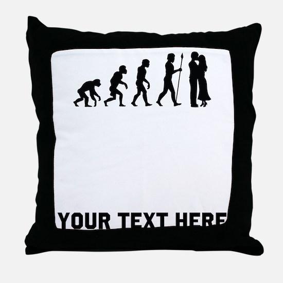Couple Kissing Evolution Throw Pillow
