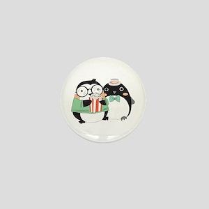 Popcorn Penguins Mini Button