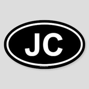 JC Oval Sticker