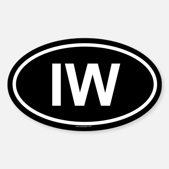 IW Oval Decal
