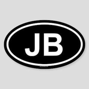 JB Oval Sticker