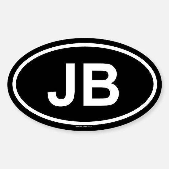 JB Oval Decal