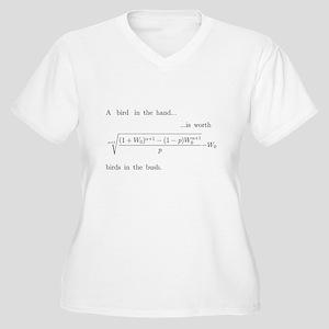 Risk aversion Women's Plus Size V-Neck T-Shirt