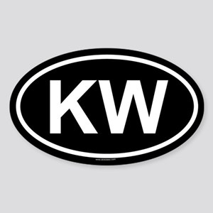 KW Oval Sticker