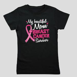 Mom Breast Cancer Girl's Tee