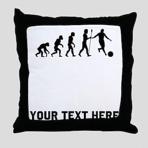 Kickball Evolution Throw Pillow